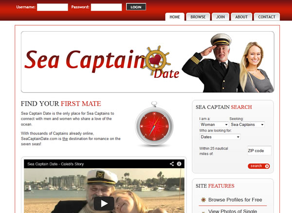 captains online dating websites