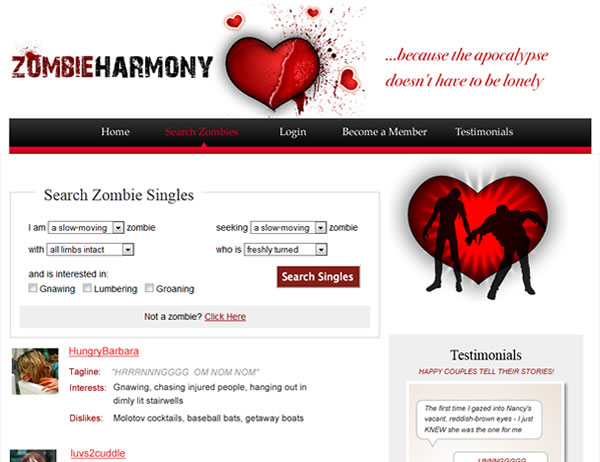 zombie online dating websites