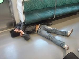 professional sleeping